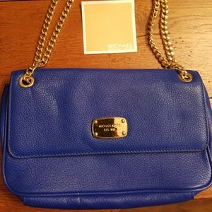 Authentic Michael Kors Royal Blue Leather Handbag
